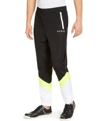 guess men's colorblocked track pants