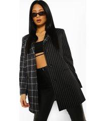 petite oversized gesplitste blazer, charcoal