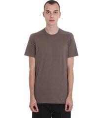 rick owens level t t-shirt in drk dust cotton