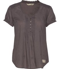 on point blouse blouses short-sleeved grijs odd molly