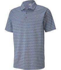 camiseta azul claropuma polo golf rayas 579959-02