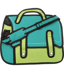morral grande 2 tiras hondori st verde oscuro-verde claro fight for your right