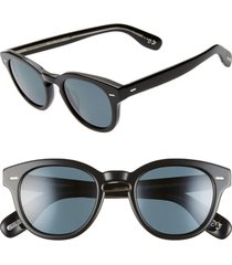 men's oliver peoples 48mm small polarized round sunglasses -