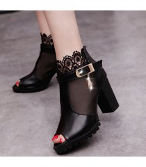 las mujeres de moda coreana sandalias damas sexy tacones puntilla open toe sandalias