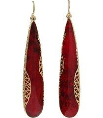 yossi harari 18kt yellow gold diamond lace cone earrings - ylwgold