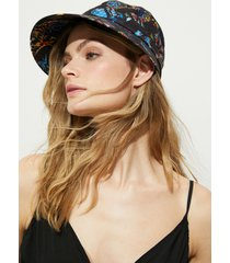 beach hat bow - black - u