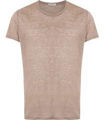 egrey ribbed t-shirt - brown