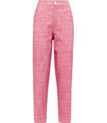 giuliette brown pantalone puffy in cotone rosa