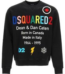 dsquared2 multicolor logo sweatshirt