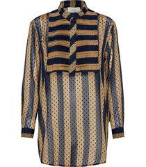 meeting blouse lange mouwen blauw munthe