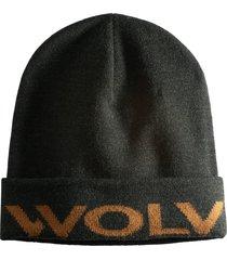 wolverine logo watch cap onyx heather, size one size