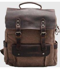 mochila vintage cuero marrón millam