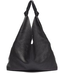 'bindle two' knot handle leather hobo bag