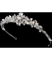 closeout price! silver ab rhinestone wedding bridal princess prom tiara