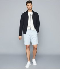 reiss wicket - casual chino shorts in soft blue, mens, size 36