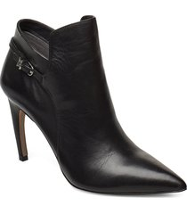 fiora shoes boots ankle boots ankle boots with heel svart sam edelman