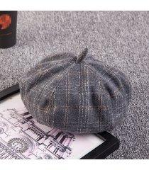 cappelli della zucca di miscela di lana di miscela elegante di lana di retro donna casual cappelli del berretto del pittore caldo