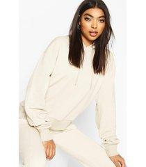 basic soft mix & match oversized hoodie, stone