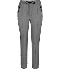 mjuka byxor miamoda grå::svart