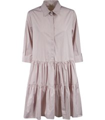 fabiana filippi stripe print shirt dress