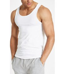 river island mens white muscle fit scoop neck vest