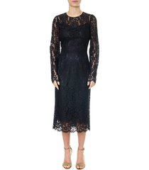 dolce & gabbana black long-medium laced dress