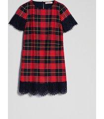 twin-set 192tp2621 jurk zwart rood