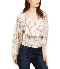 leyden smocked surplice blouse