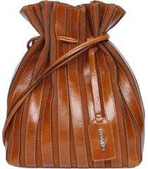 bolsa clutch de couro griffazzi - feminino