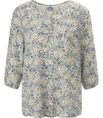 blouse 3/4-mouwen en bloemetjesdessin van hammerschmid wit