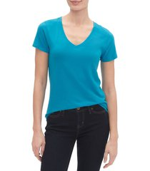 camiseta azul turquesa gap