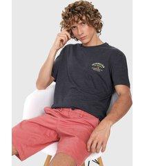 camiseta azul oscuro-amarillo-rojo quiksilver