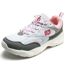 tenis blanco-gris-rosa ocean pacific
