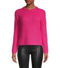 525 america women's jane raglan pullover sweater - hibiscus - size m