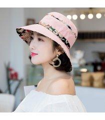 moda sombrero para el sol de ala ancha para mujer sombrero de algodón gorra