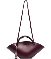 jil sander small sombrero tote bag - purple