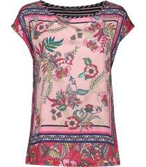 shirt short 1/2 sleeve t-shirts & tops short-sleeved multi/mönstrad betty barclay