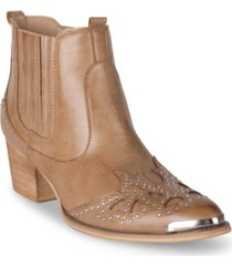 wanted lonestar western inspired ankle bootie women's shoes