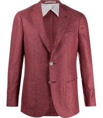 barba gimmy fine knit blazer jacket - red