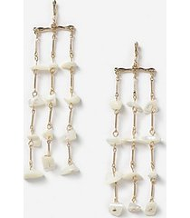 *long drop pearl earrings - cream
