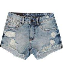 shorts infantil confort detonado jeans authoria feminino