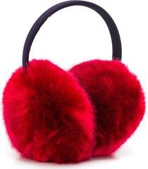 hucklebones london faux fur earmuffs - red