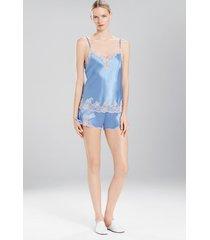 lolita tap pants pajamas, women's, white, 100% silk, size l, josie natori