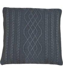 capa almofada tricot 40x40cm c/zãper sofa trico cod 1026 grafite - cinza - feminino - dafiti