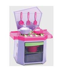 cozinha infantil big fogão com panelas brinquedos com forno