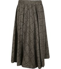 dolce & gabbana check pleated skirt