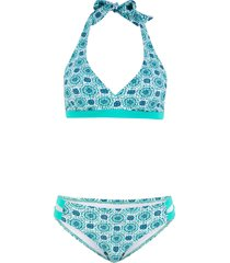 bikini all'americana (set 2 pezzi) (blu) - bpc bonprix collection