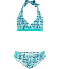 bikini all'americana (set 2 pezzi) (blu) - bpc bonprix collection