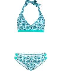 bikini con allacciatura sulla nuca (blu) - bpc bonprix collection