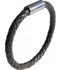 suki men's braided leather 6mm bracelet